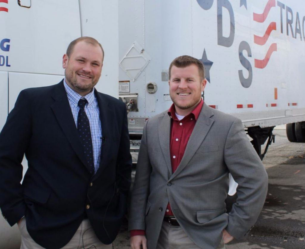 Chris Pender, Vice President of CDS Tractor Trailer Training, with Tim Cerebe, VP of Community Development at Freedom First CU