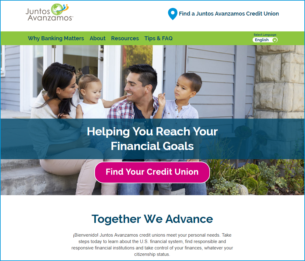 Be among the first industry insiders to see the new Juntos Avanzamos website!