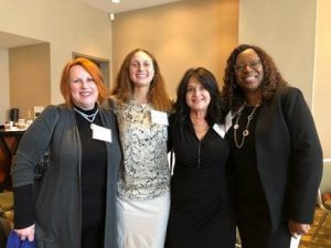 From Left to Right: Anna Foote, Southeast Regional Director, On the Rise Financial Center; Michelle Parker, Federation Program Officer; Sandy Headley, Vice President, Access to Capital for Entrepreneurs; and Deirdra Cox, President, Community Sustainability Enterprise.